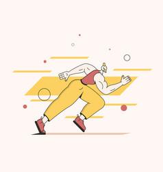 man run jogging and sprint vector image
