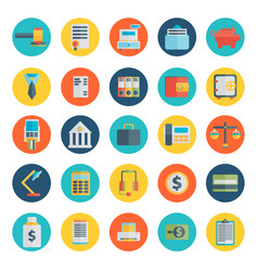 modern design flat icon set style of financial vector image