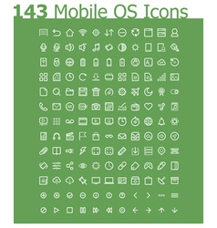 Operating system icon set vector