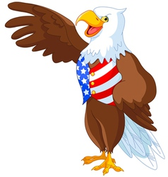 Patriotic American Eagle vector