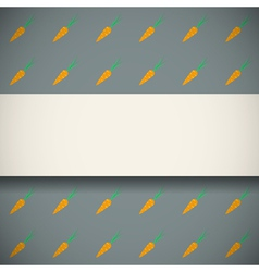 Pattern with cute carrots vector image