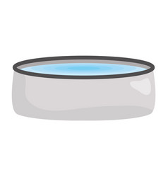 Pet dish with water vector