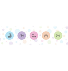 Physical icons vector