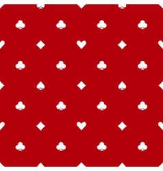 Poker red seamless pattern vector image