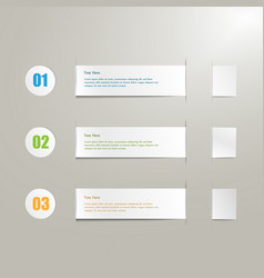 realistic paper label set vector image