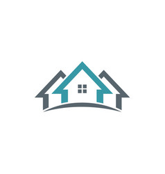 Realty home company logo vector