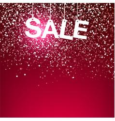 red greeting snowfall sale vector image