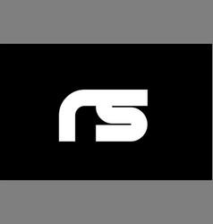 Rs r s black white bold joint letter logo vector