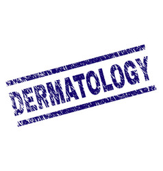 Scratched textured dermatology stamp seal vector