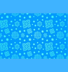 seamless blue winter pattern with snowflakes vector image