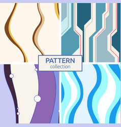 set of four abstract seamless patterns vector image