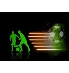 soccer modern background green vector image