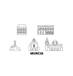 spain murcia line travel skyline set spain vector image
