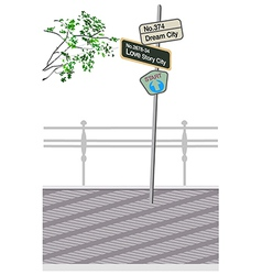 Street Sign Post vector image