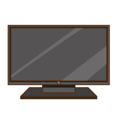 Television on white background vector
