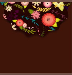 Template for postcard invitation with flowers vector