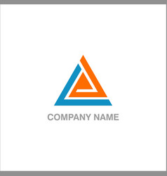 triangle technology logo vector image
