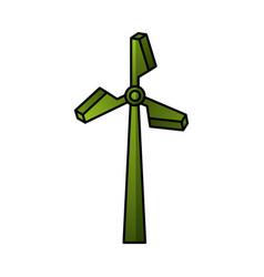 turbine energy isolated icon vector image