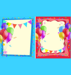 two background design with balloons and flags vector image