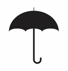 umbrella silhouette vector image