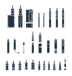 Vecor set of vape related simple icons rda vector