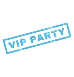 Vip Party Rubber Stamp vector