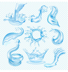 water waves splash drop of waterfall vector image