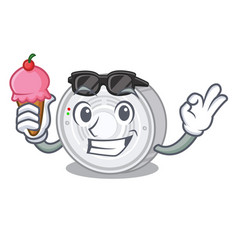 With ice cream smoke detector isolated with the vector
