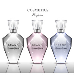women perfume bottle set collection fragrances vector image