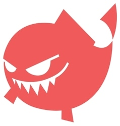 Cartoon Angry fish icon vector image