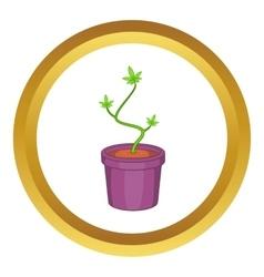 Marijuana in flower pot icon vector image vector image