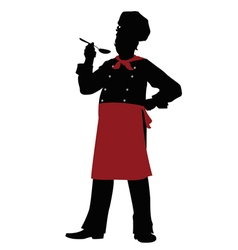 silhouette Chef - vector image vector image