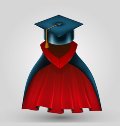suit graduate vector image