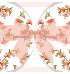 Vintage Watercolor Floral Card vector image vector image