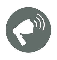 bullhorn advertising round icon vector image vector image