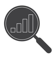 data analysis black silhouette vector image