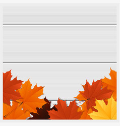 hello autumn background with colorful leaves vector image