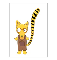 Lemur cartoon vector image vector image