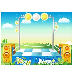 Music Stage Background vector image vector image