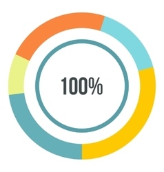 Percent showing infographics flat style vector image vector image