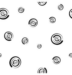 Polka dot chaotic seamless pattern 303 vector image vector image