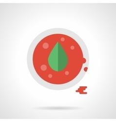 Sauce with oregano flat color design icon vector image vector image