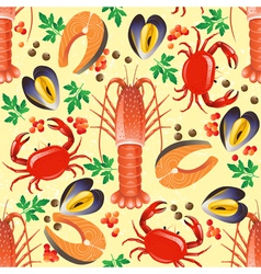 sea food seamless vector image vector image