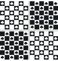 seamless checkered textures vector image vector image
