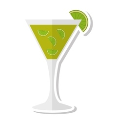 tropical cocktail cup isolated icon vector image vector image