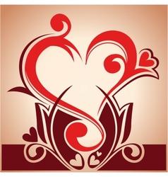 floral hearth vector image vector image