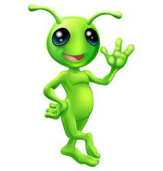 little green man alien vector image vector image