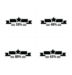 price tags set and star vector image vector image