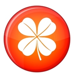 Clover leaf icon flat style vector image vector image