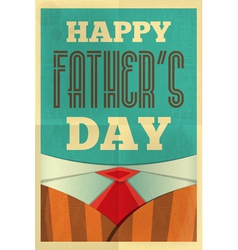 fathers day poster suit vector image